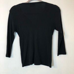 Michael Stars Tops - MICHAEL STARS   3/4 length black cardigan
